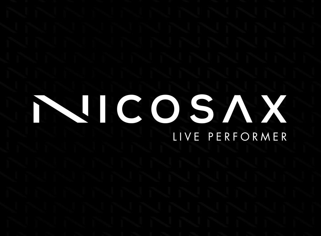 Nicosax logo fond noir texture