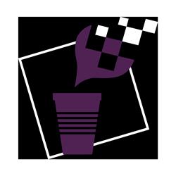 Gobelet violet 250