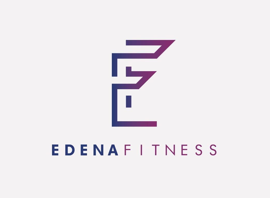 Edena logo fond gris 1