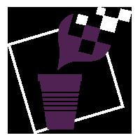 Coffee Marketing Logo violet blanc