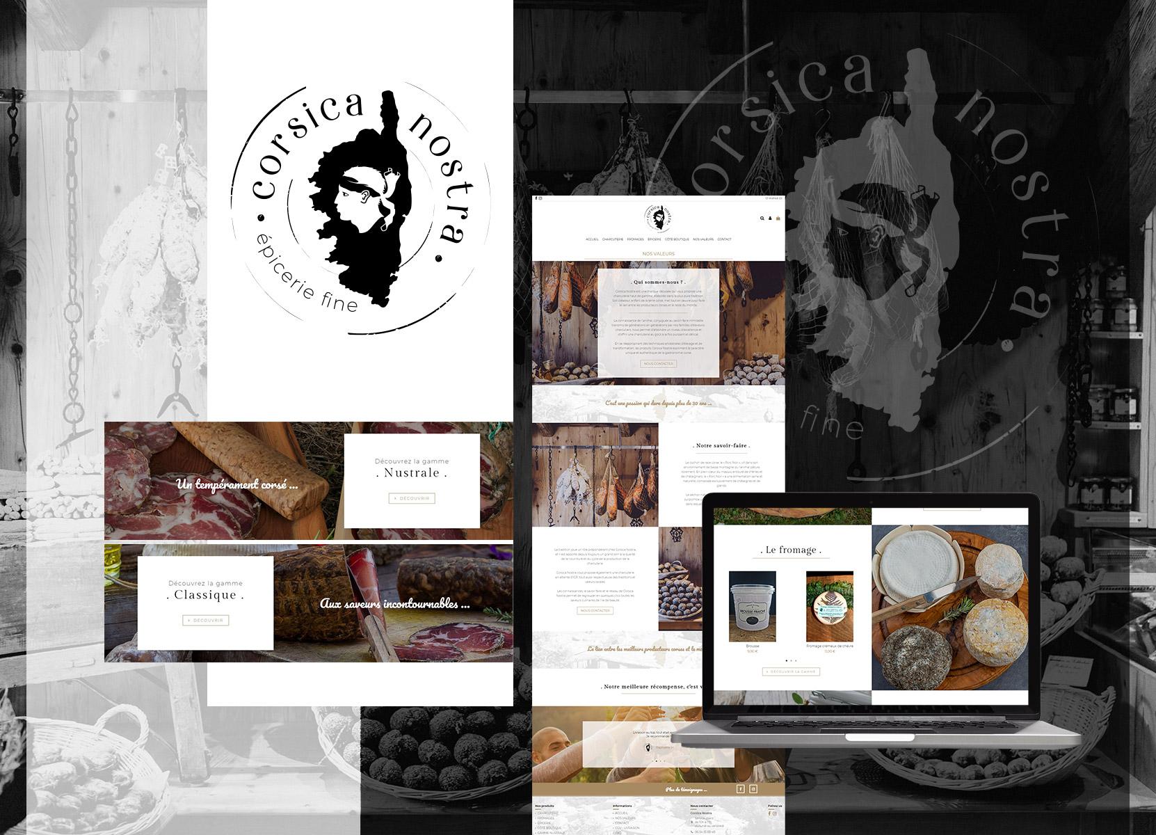 réalisation site e-commerce - Corsica Nostra