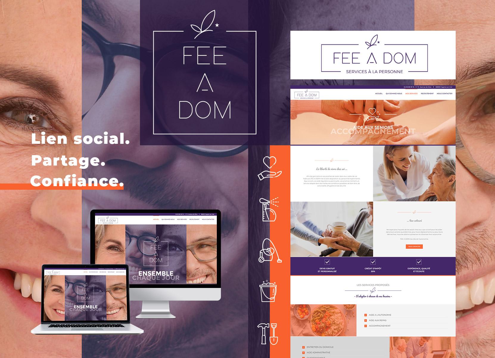 réalisation site web Fee a Dom